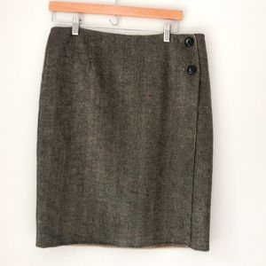 Pendleton Wool Brown/Tan Pencil Skirt Size 10